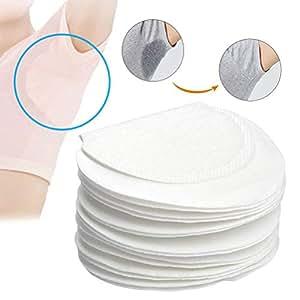BUYGOO 80 Piezas Sudor Almohadillas Absorbentes de Transpiración Axilas Antitranspirante Pads Suave Protección contra el Sudor