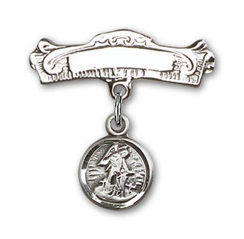 Icecarats Créatrice De Bijoux En Argent Sterling Tuteur Charme D'Ange Pin Badge Arc 3/4 X 7/8