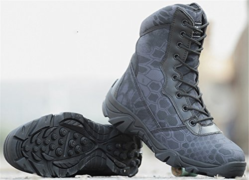 Combat Boots Men Mid-Calf, Lace up Army Shoes Anti-Skid Training Use Military Bootie 4 Colors Size 6-9.5 - stylishcombatboots.com