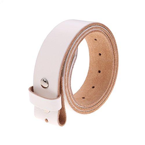 Gelante Genuine Full Grain Leather Belt Strap without Belt Buckle ()