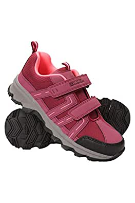 Mountain Warehouse Cannonball Kids Walking Shoes – All Season Childrens Shoes, Comfortable Hiking Shoes, Durable Outsole, Ankle Support – for Travelling, Camping Fuchsia 2