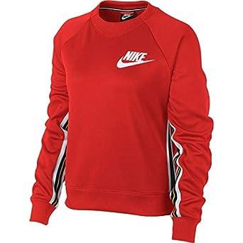 cc0e3e21665a4 Nike - Sweat-Shirt - Femme Rouge Rouge  Amazon.fr  Vêtements et ...