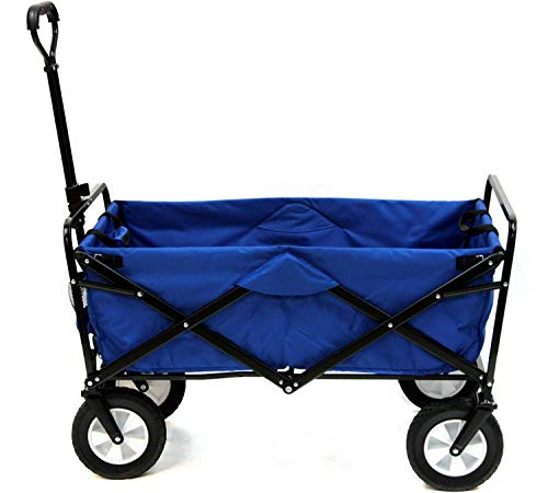 Mac Sports Collapsible Folding Outdoor Utility Wagon, Blue reviews