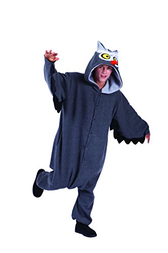 RG Costumes Men's Oxford Owl, Gray, One (Owl Costume For Adults)