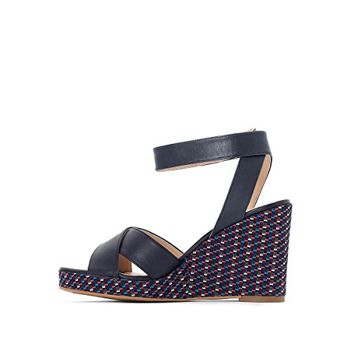 Redoute Navy Womens La Print Collections Graphic Sandals blue Wedge 0wfqdPT