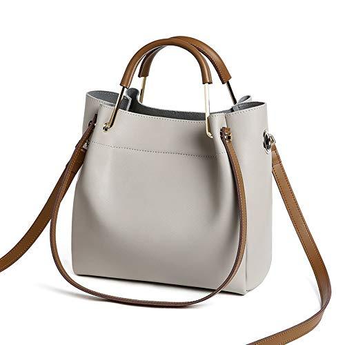 Bag De Salvaje Gray Oscuro Simple Verde Messenger Bolsa Coreana Hombro  Portátil Bolso Cuero color Cubo ... 6f9e25bdc12d