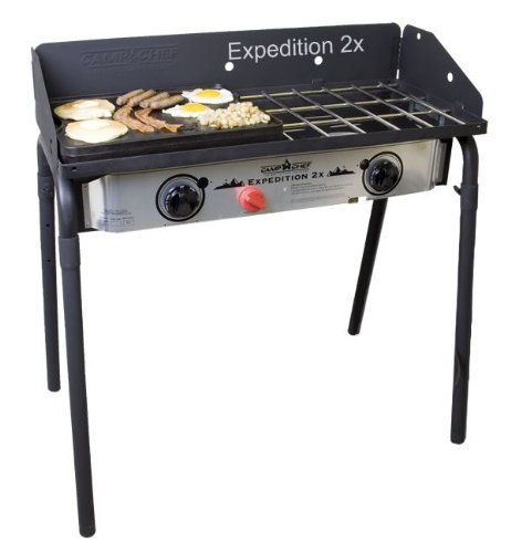 Camp Chef Expedition 2 Stove with BONUS Cast Iron Griddle by Camp Chef