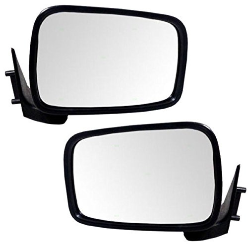 Koolzap For 86-93 Mazda Pickup Truck Black Manual Rear View Mirror Left Right Side SET PAIR