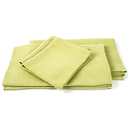 Pistachio Linen Towels Set Lara by LinenMe