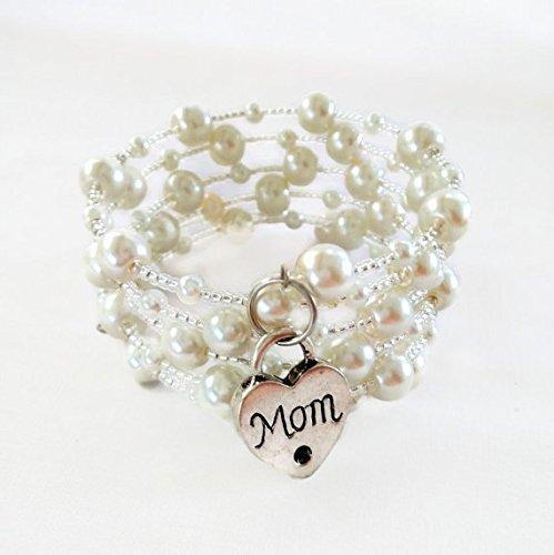 White Pearl Wrapped Bracelet - 2