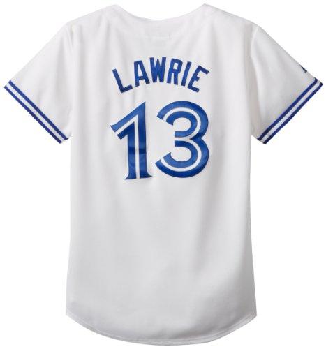(Majestic MLB Toronto Blue Jays Women's Brett Lawrie 13 Replica Jersey, White, Medium)