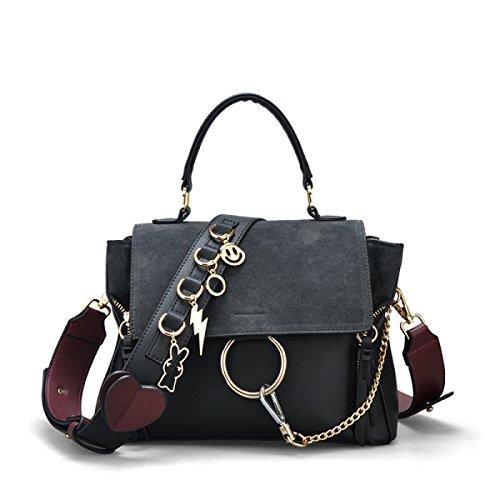 à Grand Mode Bag Sac épaule Main Messenger Sac Mesdames Large Décontracté Bandoulière à Bandoulière Black Sac Sauvage 1wqIcC46