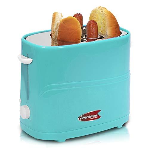Maxi-Matic ECT-304BL Hot Dog Toaster Machine, 2-slice, Blue