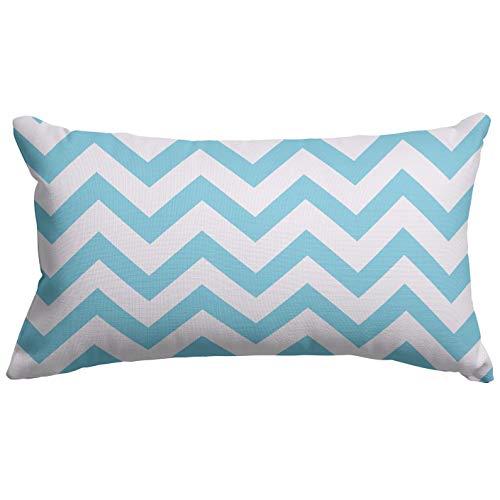 Majestic Home Goods Chevron almohada pequeña, 20' x 12' (azul Tiffany)