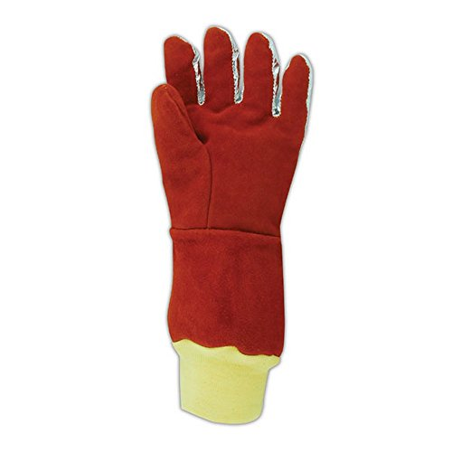 Magid Glove & Safety 7137SLBWLK WeldPro Aluminized Back Welding Gloves with Kevlar Knit Wrist, XL by Magid Glove & Safety (Image #1)