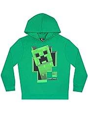 Minecraft Creeper Inside Boy's Green Hoodie