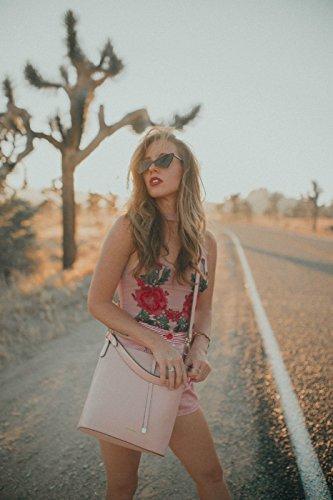 ECOSUSI Rose Cuir la PU Sac à Mode à Sac Sac de Epaule Femme pour Seau pour Main en Femme Porté Sac RR0wrUq