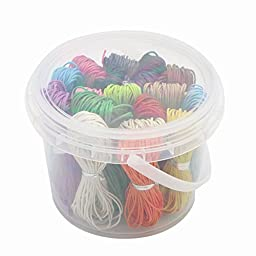 180yards 18 Colors 1mm Waxed Cotton Cord Jewelry Fashion DIY Cords