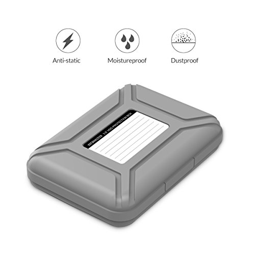 5-Pack Yottamaster 3.5 Inch Portable HDD Case / External Hard Drive Case -Gray by Yottamaster (Image #5)
