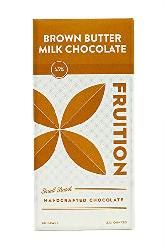 FRUITION CHOCOLATE WORKS Brown Butter 43% Milk Chocolate Bar, 2.12 OZ