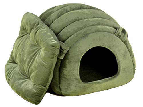Beskie Pet Tent Cave Bed for Small Dogs Cats Pets Kitty Puppy Removable Cushion Sleeping Bag Warm Soft Dog Bed Cozy Grotto Cavern Cuddler Burrow House Hole Igloo Nest for Cat