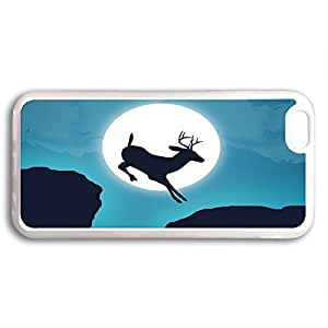 customized Case Cover For HTC One M9 Transparent, Moon and Deer Case Cover For HTC One M9 Transparent QWVW59USV9F Slim Cover Skin