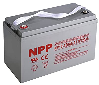 Best Cheap Deal for NPP 12V 120 Amp NP12 120Ah Sealed Lead Acid Group 31 Deep Cycle Battery With Button Style Terminals from NPP - Free 2 Day Shipping Available