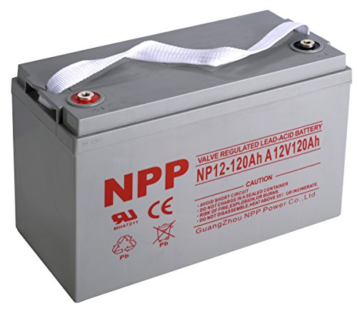 NPP 12V 120 Amp NP12 120Ah Sealed Lead Acid Group 31 Deep Cycle Battery With Button Style Terminals by NPP