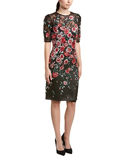 Teri Jon Womens Sheath Dress, 2, Red