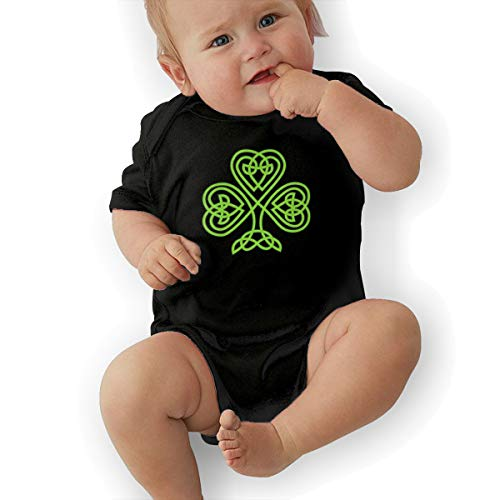 Celtic Cross Baby Organic Short-Sleeve Bodysuit Black