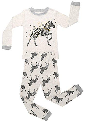 Two Piece Footed Pajamas - 6