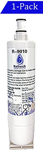 Whirlpool 4396508, 4396510 Compatible Water Filter for Refrigerator by Refresh - EDR5RXD1, 4396510, NLC240V EveryDrop Filter 5, Kitchenaid Maytag Refrigerator