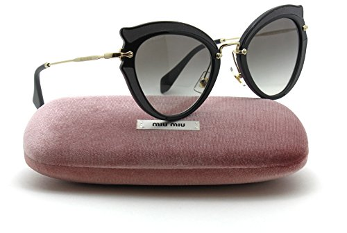 Miu Miu MU 05SS NOIR Collection Butterfly Women Silk Sunglasses (Grey Gradient VIE0A7, - Miu Sunglasses Noir Miu