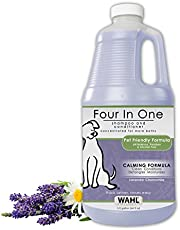 WAHL Professional Animal 4-in-1 Calming Pet Shampoo – Cleans, Conditions, Detangles & Moisturizes with Lavender Chamomile – 64 Oz (821000-050)
