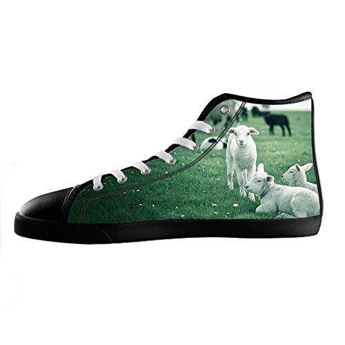 Dalliy Schaf Muster Mens Canvas shoes Schuhe Lace-up High-top Sneakers Segeltuchschuhe Leinwand-Schuh-Turnschuhe C