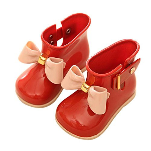 Wensltd 1 Pair Cute Baby Jelly Shoes Girl Shoes Children Bow Rain Boot