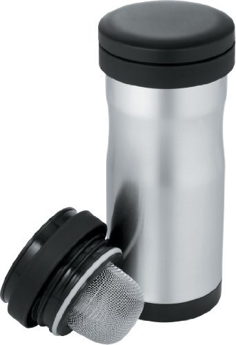 Thermos 12-Ounce Stainless-Steel Tea Tumbler with Infuser (Discontinued by Manufacturer) (Thermos Tumbler Nissan Travel)