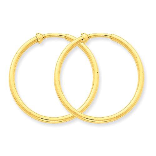 14k yellow gold non pierced clip on