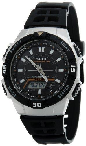 Casio Men's AQS800W-1EV Black Resin Quartz Watch with Black Dial