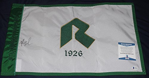 (Fred Couples Signed Auto'd Riviera Country Club Flag Bas Coa 1992 Masters Champ - Beckett Authentication )