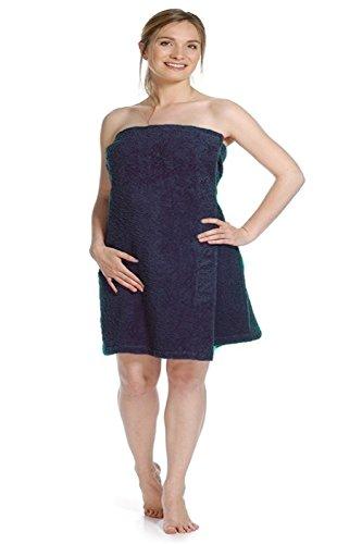 wewo Fashion–Mujer Sauna Kilt–�? 9547–Rizo rizado en übergröße–�?60cm x 70cm Marine
