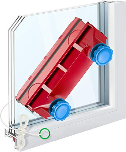 """Tyroler Bright Tools Magnetic Window Cleaner The Glider D-3 AFC Single or Double Glazed Window 0.08""""-1.1"""" 