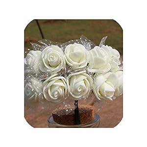 Pe Rose Foam Mini Silk Flowers Artificial Pe Roses Home Decoration DIY Wedding Wreath Decorative Artificial Flowers,6,144Pcs 28