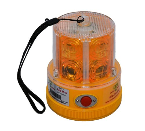(P24LM 24 LED AMBER PORTABLE SAFETY LIGHTS PERSONAL HAZARD EMERGENCY WARNING LIGHT AMBER)