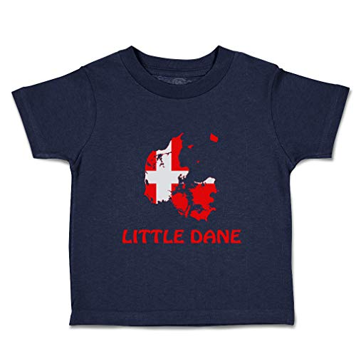 Custom Baby & Toddler T-Shirt Little Danish Cotton Boy & Girl Clothes Funny Graphic Tee Navy Design Only 12 Months (Tt Polyester Label)