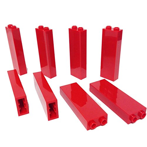 Lego-Parts-Brick-1-x-2-x-5-PACK-of-8-Red