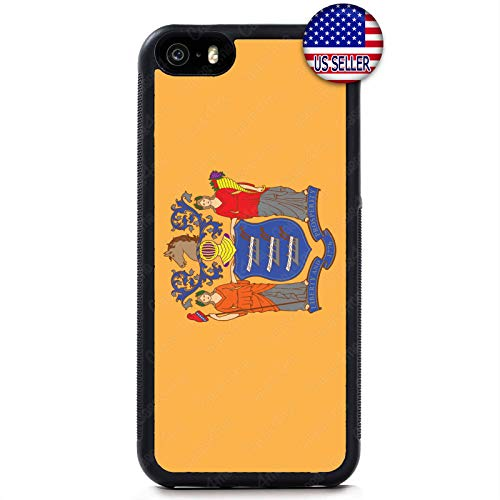 Case Lock LTD -New Jersey State Flag USA Hard Rubber Case Cover for iPhone Xs MAX (2018 Model) Includes 1 Screen Protector
