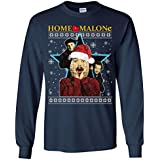 CLOTHINGFORFUN Home Malone Long Sleeve, Home Malone Christmas Ugly, Adult and Youth Size