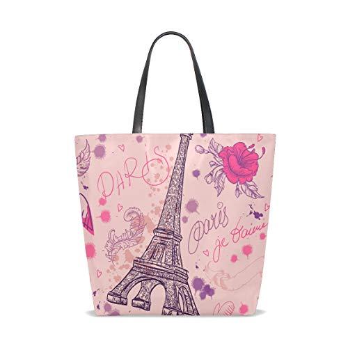 Al Eiffel Talla Para Tower Única Bolso Vintage Hombro 001 Tote Bennigiry Mujer BqfAxt411w