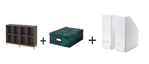 Ikea - Carpeta de Almacenamiento con Patas, Color Gris Oscuro, 4 ...